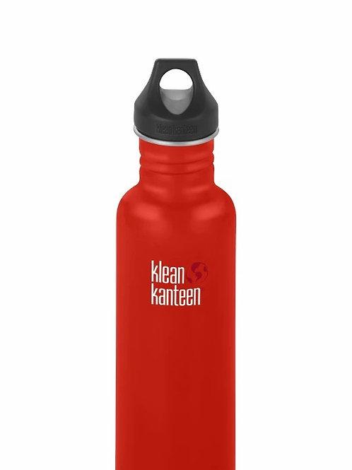 klean kanteen classic reusable bottle, post box red. 532ml. zero waste bulk foods. plastic free. horsham. dorking. online