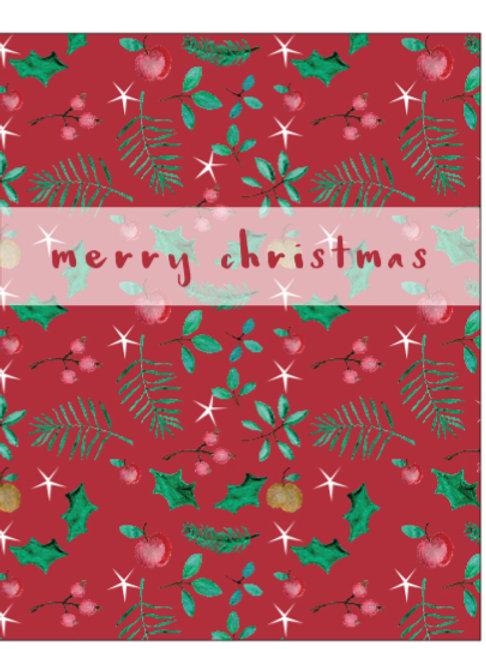 Merry Christmas wildflower seeded card front, plastic free, zero waste bulk foods. horsham. sussex. dorking. surrey. online