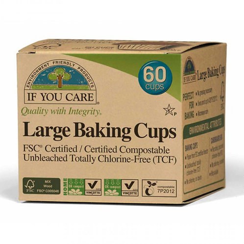 If You Care Large baking Cups. Compostable. Plastic Free. Zero Waste Bulk Foods. Horsham. Sussex