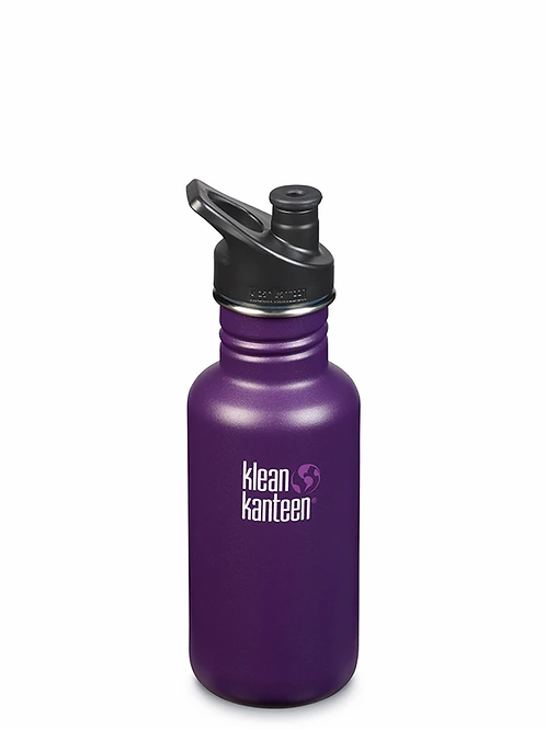 klean kanteen classic reusable bottle. 532ml. winter plum. zero waste bulk foods. plastic free. horsham. dorking. online
