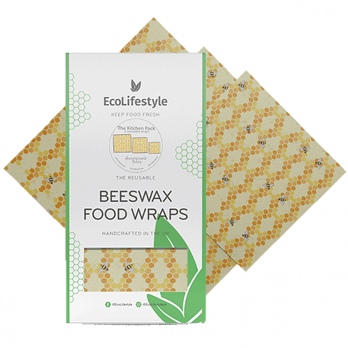 Beeswax Wax Wrap set of 3. zero waste bulk foods. plastic free. online. horsham. dorking.