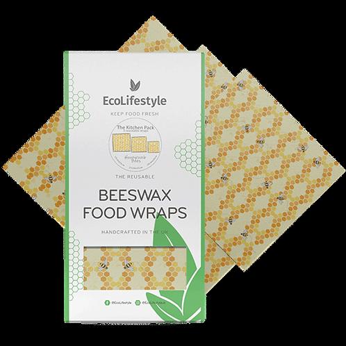 Beeswax Wax Wrap set of 3. zero waste bulk foods. plastic free. online. horsham. dorking.