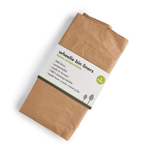 Home compostable paper wheelie bin liners x 3. zero waste bulk foods. plastic free. horsham. dorking .sussex