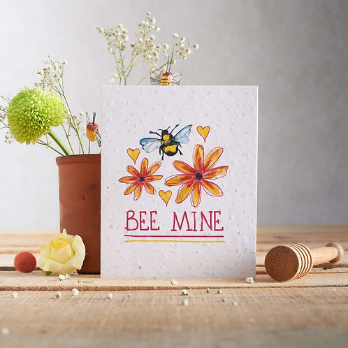 Bee Mine Wildflower Seed Card Front