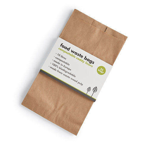 Home compostable food waste bags x 25. zero waste bulk foods. plastic free. horsham. dorking .sussex