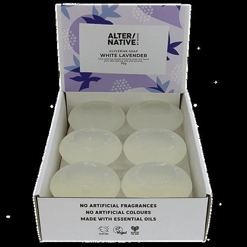 White Lavender Glycerine Soap. Zero Waste Bulk Foods. Plastic Free. Horsham. Sussex. Online. UK