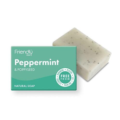 friendly soap. peppermint & poppyseed. zero waste bulk foods. horsham. dorking. online. plastic free