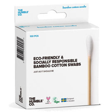 The Humble COmpany Bamboo Cotton Swab White. 100 pieces. zero waste bulk foods. online. plastic free. horsham. sussex