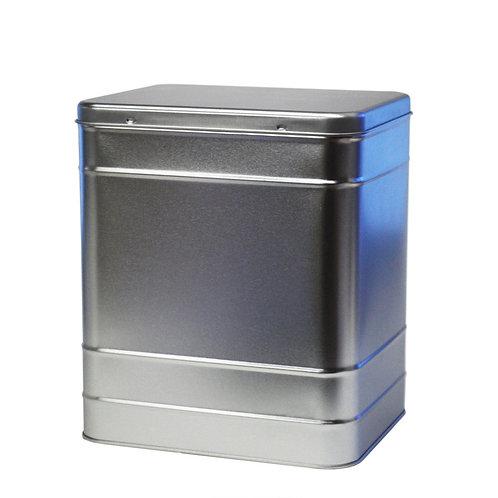 Silver Tea Caddy - holds 1.5kg tea . zero waste bulk foods. plastic free. online. horsham. dorking