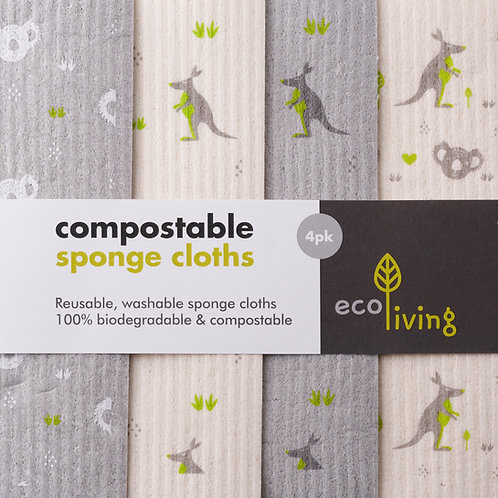 Compostable sponge cloth. zero waste bulk foods. plastic free. online. uk. horsham
