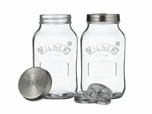 Set of 2 Kilner Fermentation Jars. zero waste bulk foods. plastic free. online. horsham. dorking