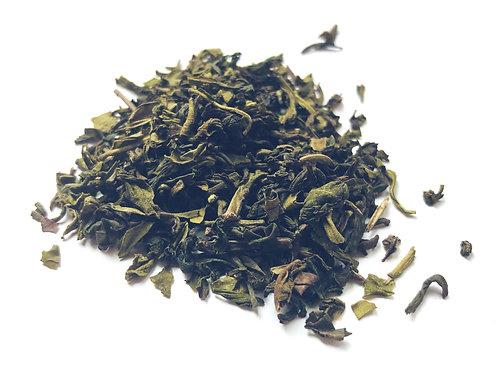 Organic and Fair-trade Loose Leaf Green Tea - Dooars. Plastic Free. Zero Waste bulk foods. Horsham. Sussex. Online.