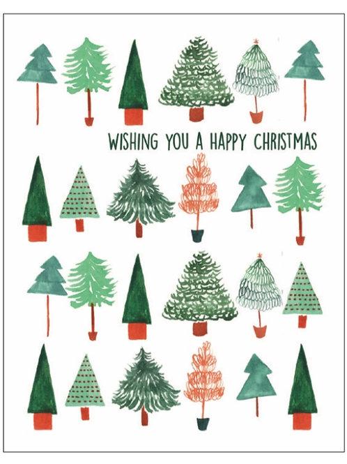 Christmas card christmas trees wildflower seeded card front. zero waste bulk foods.plastic free. online. horsham. sussex.