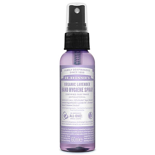 dr bronners organic lavender hand hygiene spray. 60ml. zero waste bulk foods. online. horsham. sussex. sanitiser