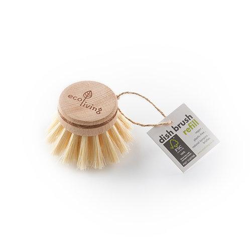 Wooden Dish Brush Head Refill. zero waste bulk foods. plastic free. horsham. sussex. online