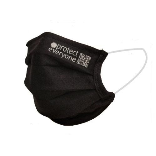 reusable Organic Cotton Face Mask black. zero waste bulk foods. plastic free. horsham, sussex. dorking, surrey. online