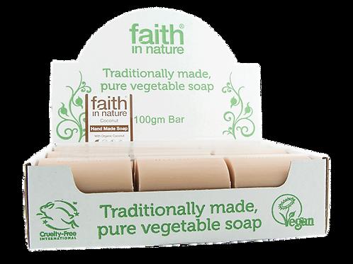 faith in nature coconut soap bar. zero waste bulk foods. plastic free. horsham. dorking. online