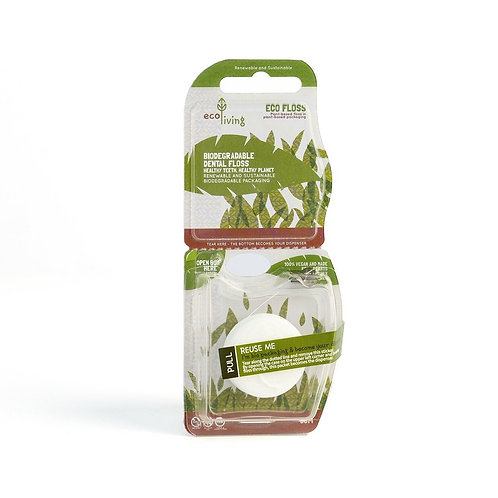 Biodegradable Vegan Dental Floss 2 pack. zero waste bulk foods. plastic free. online. horsham. sussex. uk