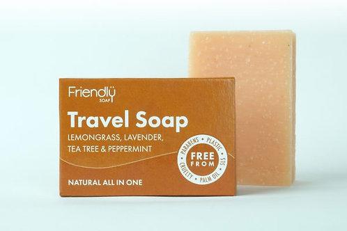 Travel Soap. Lemongrass, Lavender, Tea Tree & Peppermint. Zero waste bulk foods. plastic free. online. horsham. sussex. uk
