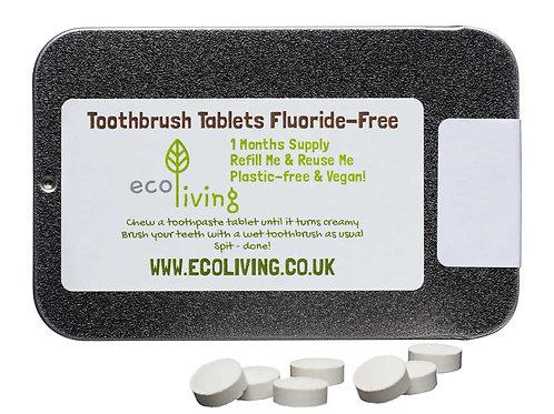 Toothpaste tablets, fluoride free, vegan, Zero Waste Bulk Foods