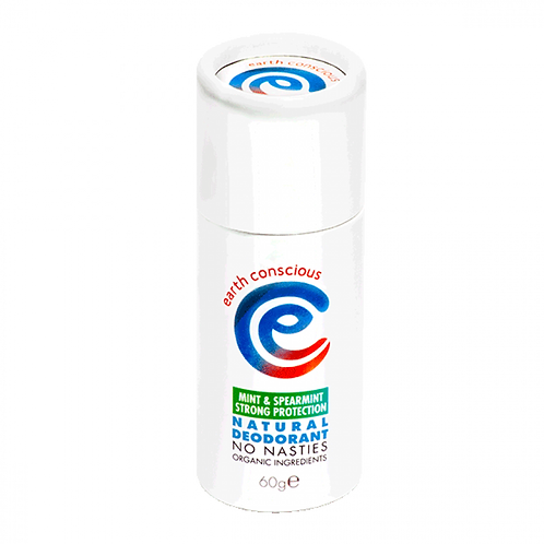 Earth Conscious Peppermint & Spearmint Strong Deodorant Stick. zero waste bulk foods. plastic free. online. horsham. sussex.