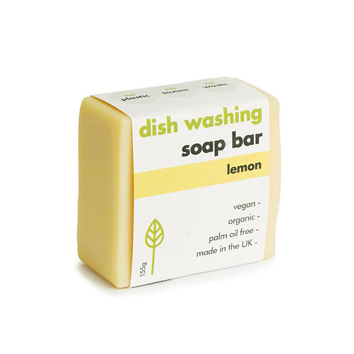 Lemon Dishwashing Soap Bar 155g. zero waste bulk foods. plastic free. online. horsham. sussex