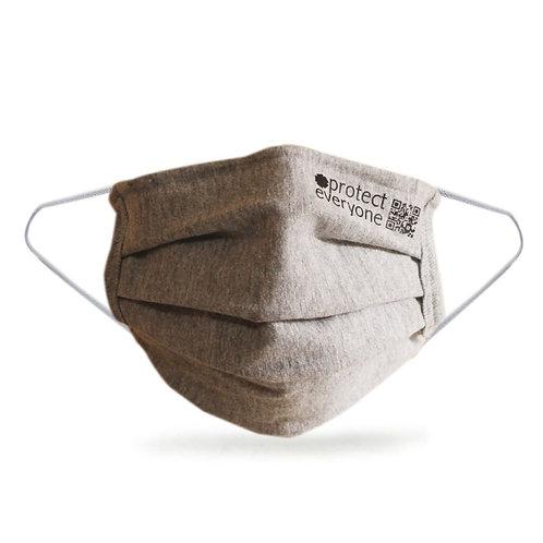 reusable Organic Cotton Face Mask grey. zero waste bulk foods. plastic free. horsham, sussex. dorking, surrey. online
