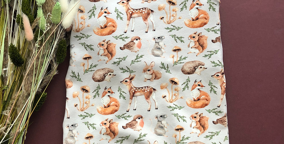 Whimsical Forest Animals on Taupe