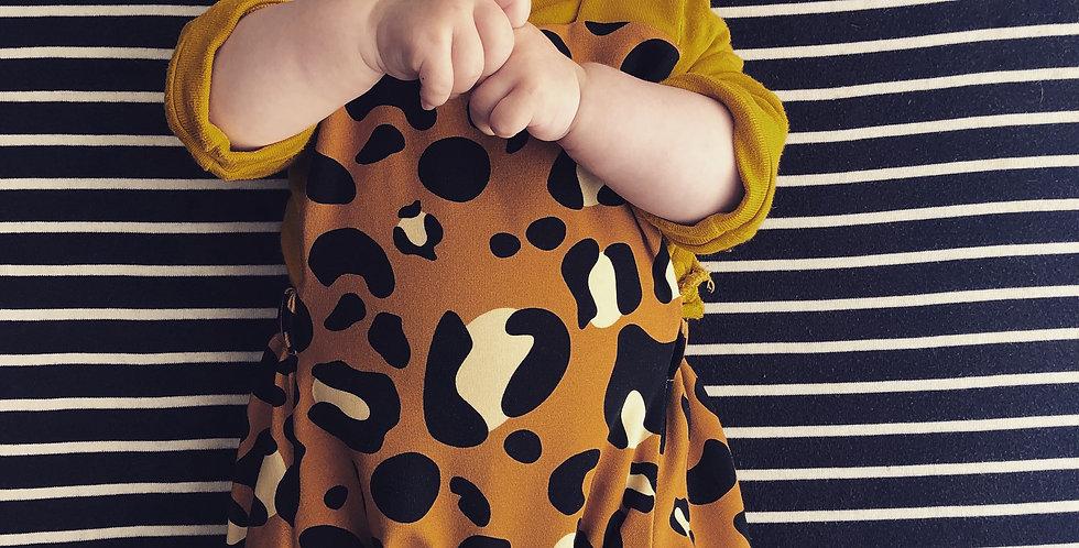 Mustard Supersize Leopard Print Summer Romper