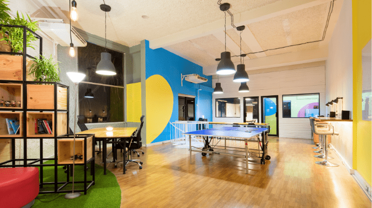 modern colourful office space
