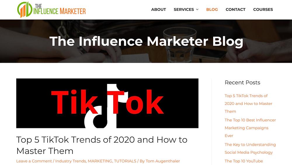 The Influence Marketer Blog