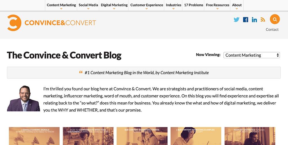 Convince&Convert Content Marketing Blog