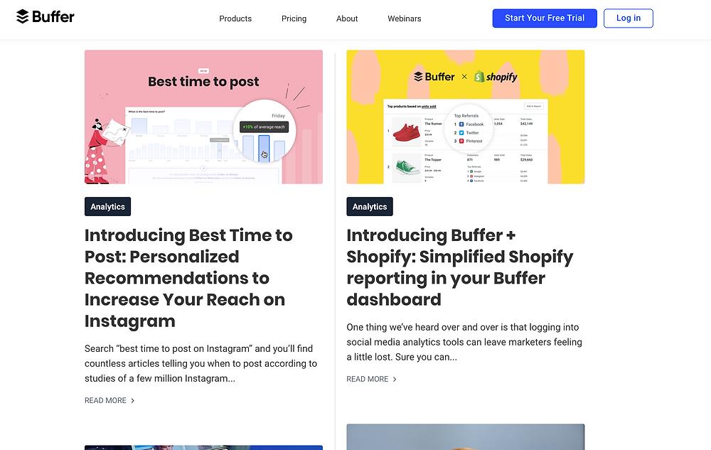 Buffer Social Media Blog