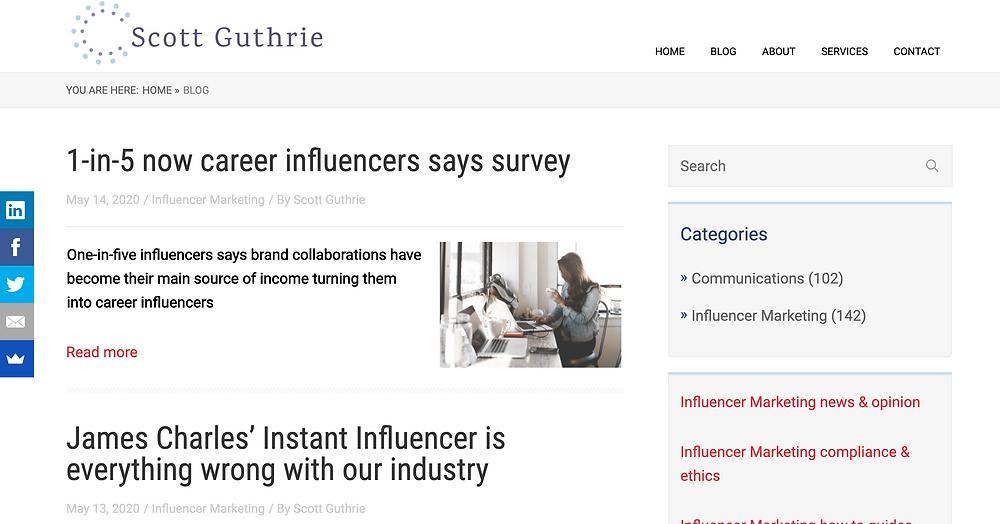 Scott Guthrie Influencer Marketing Blog