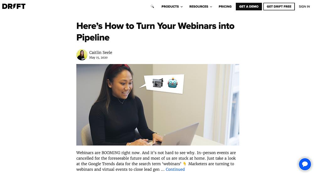 Drift Conversational Marketing Blog