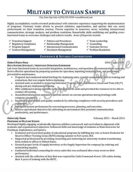 Military to Civilian Resume Sample_edite