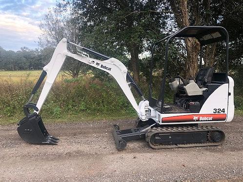Bobcat 324 mini excavator