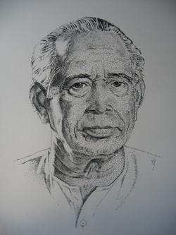 Dot painting Portrait