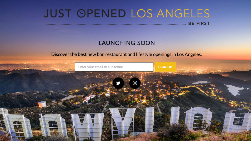 Check us out on Just Opened L.A.