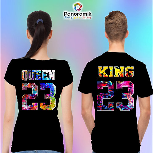 Couple T-shirts (King-Queen)