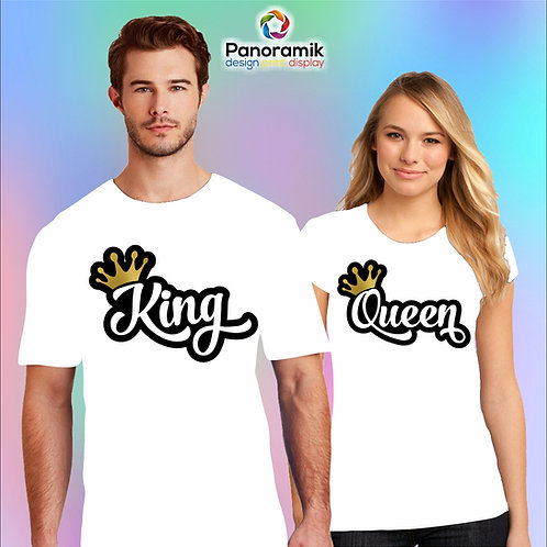 Couple T-shirts (King & Queen)