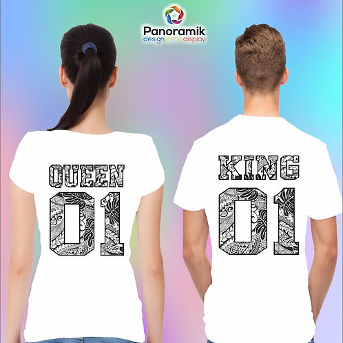 Couple T-shirts (King Queen)