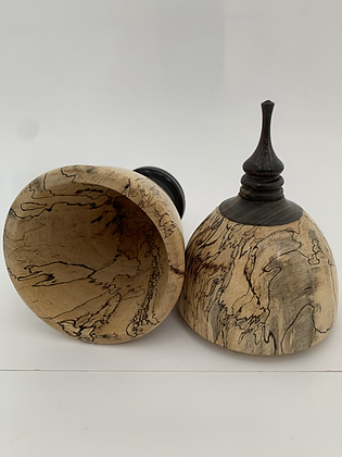 Spalted Tamarind /African Blackwood Hollow Form