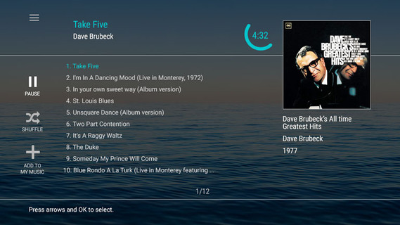 Music Player for Crystal Cruises