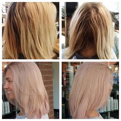 #beforeandafter by Amanda _oliviachairdressing #rosegoldhair #beautifulhair #bestsalon #southportsal