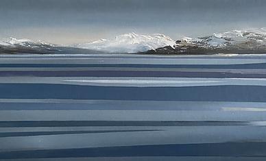Reflets sur le Lac (30 x 90 cm)