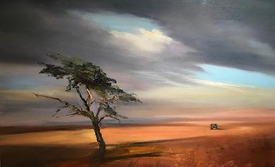 Safari (81 x 65 cm) Huile