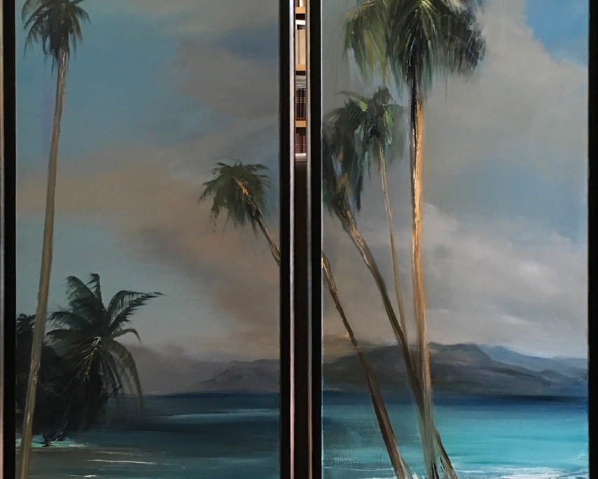 Palmiers I et II (Dyptique)