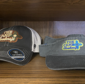 Campground logo Trucker Hats and Visors are in stock.