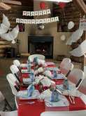 We have tables and chairs to help accommodate your party.
